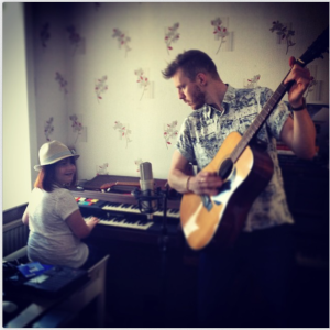 Jamming in my studio with Annie